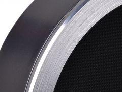 Brushed diamond cut aluminium finish