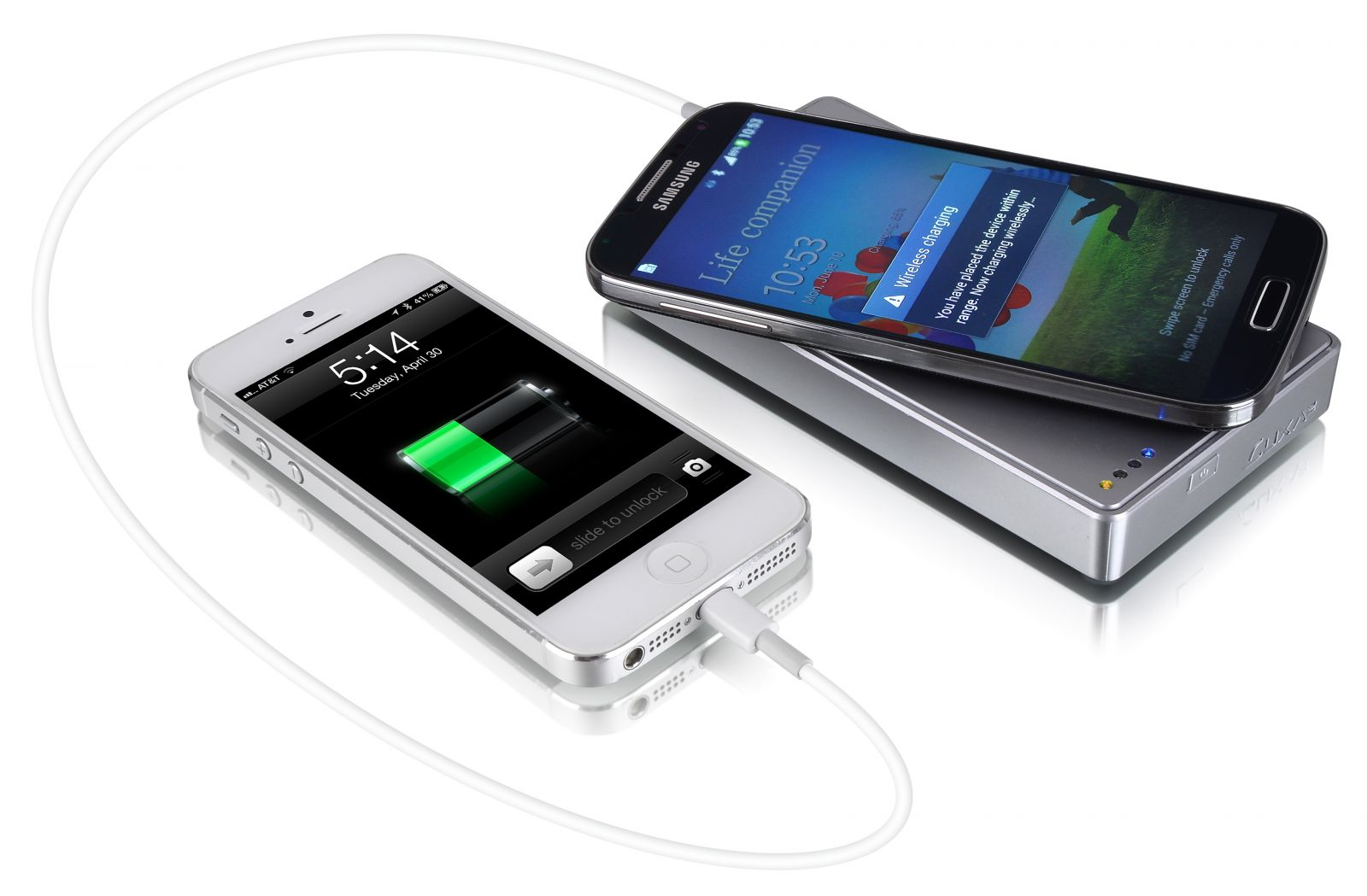 Supports both wired and wireless charging