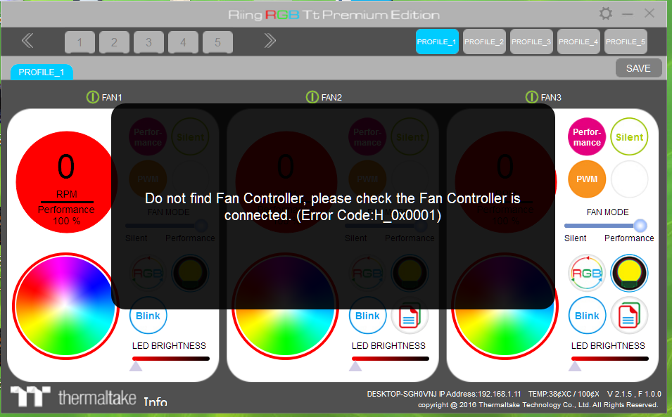 Riing Rgb Tt Premium Edition Software Can T Detect The